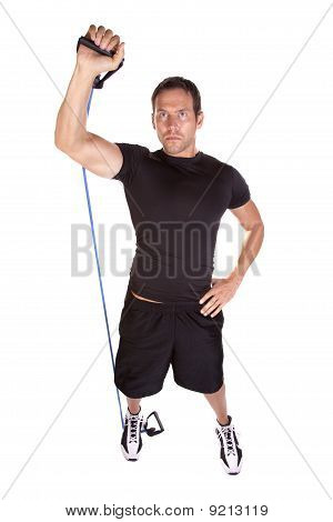 Man Working Out With Band