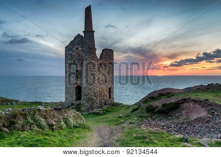 Sunset At Wheal Owles