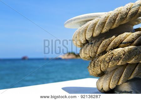 Asia   The  Kho Tao Bay Isle White  Ship   Rope  And South China Anchor