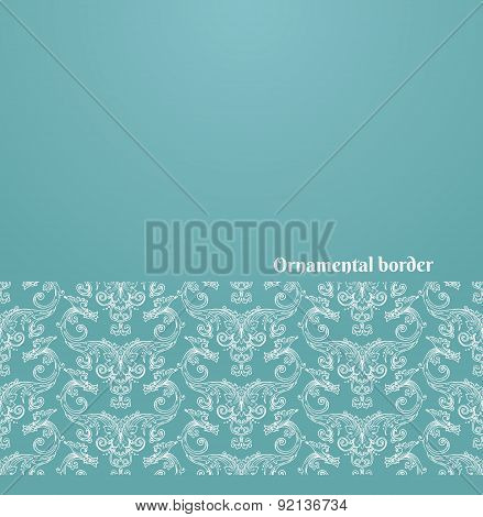 Vector Victorian Background With Ornate Border