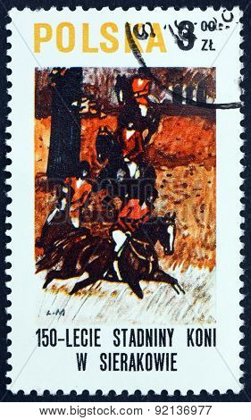 Postage Stamp Poland 1980 Horse Painting