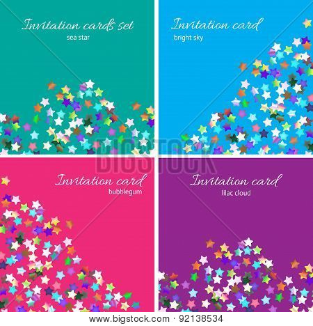 Bright Invitation Cards Set