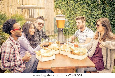 Group Of Friends Having Brunch Together