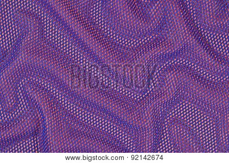 Blue Crumpled Nonwoven Fabric On A Orange