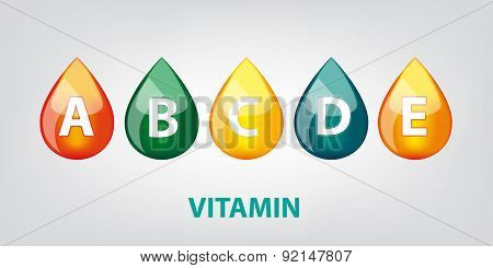 Drop Of Vitamins Illustration