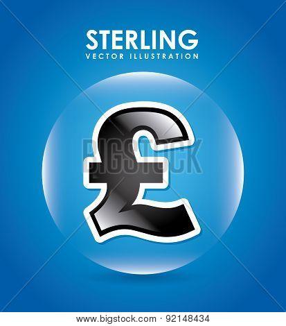 money design over blue background vector illustration