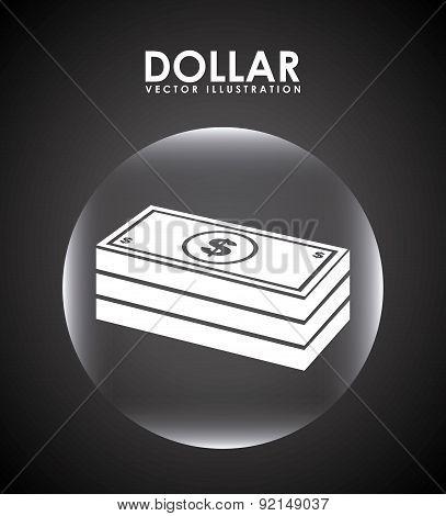 money design over black  background vector illustration