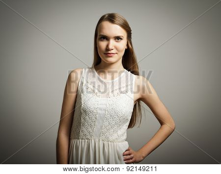 Young Woman In White.