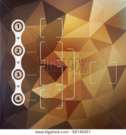 abstract background with triangles and infographics elements