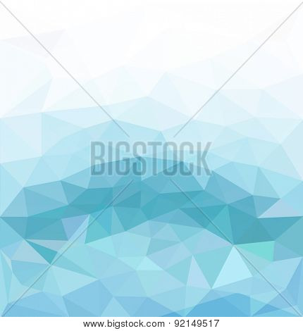 blue abstract background of triangles for business