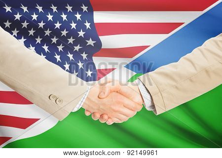 Businessmen Handshake - United States And Djibouti