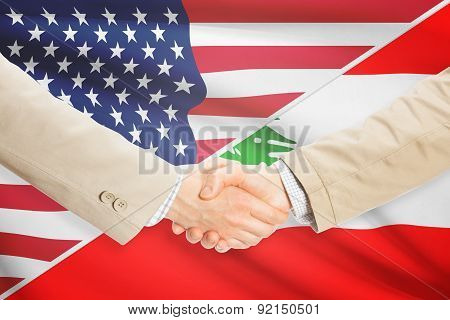Businessmen Handshake - United States And Lebanon