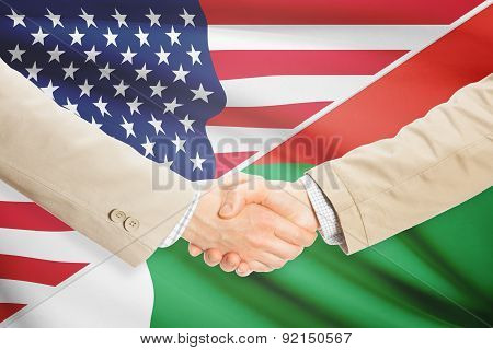 Businessmen Handshake - United States And Madagascar