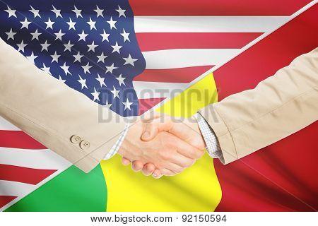 Businessmen Handshake - United States And Mali