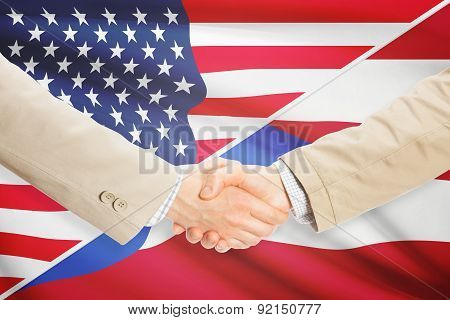 Businessmen Handshake - United States And Puerto Rico