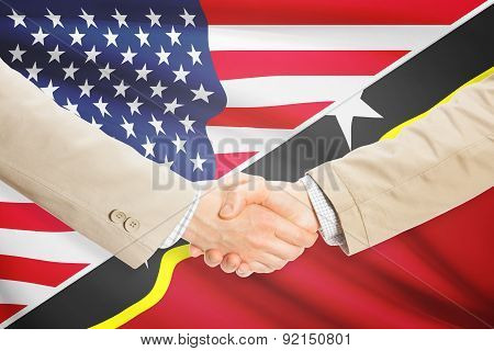 Businessmen Handshake - United States And Saint Kitts And Nevis
