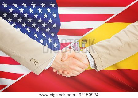 Businessmen Handshake - United States And Spain