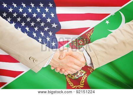 Businessmen Handshake - United States And Turkmenistan