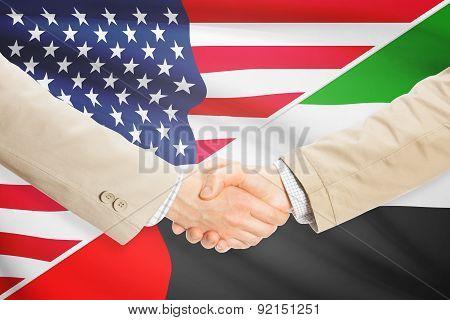 Businessmen Handshake - United States And United Arab Emirates