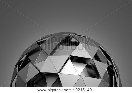 Low Poly Sphere with Chaotic Structure.