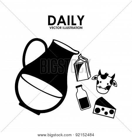 milk design over white background vector illustration