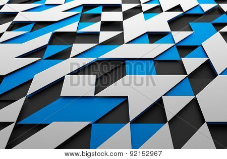 Abstract Futuristic Surface with Triangles.