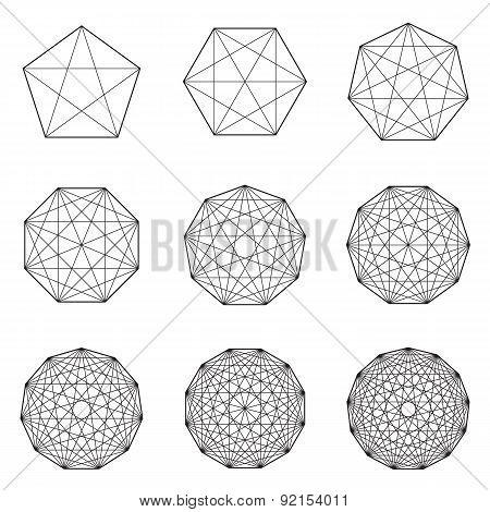 Set of geometric shapes. Vector