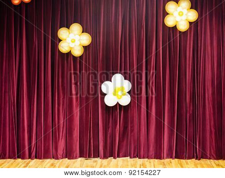 Closed Theater Red Curtains