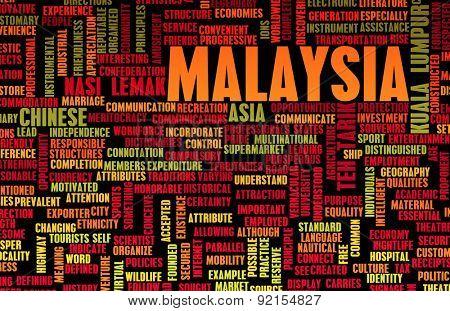 Malaysia Kuala Lumpur as a Abstract Concept Art