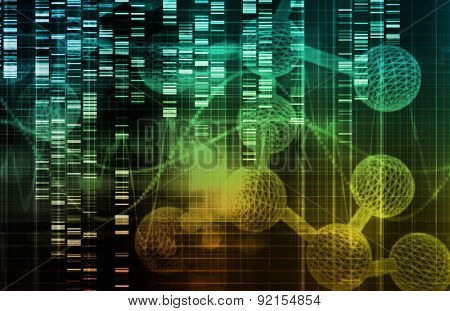 Genetic Engineering as a Science Concept Art