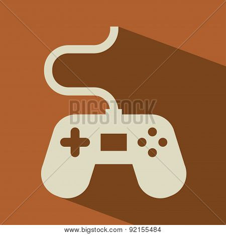 video game design over brown background vector illustration