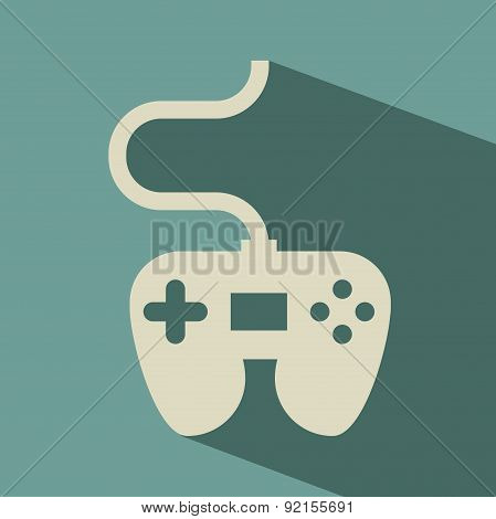 video game design over blue background vector illustration