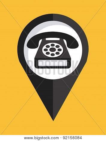 public service over yellow  background vector illustration