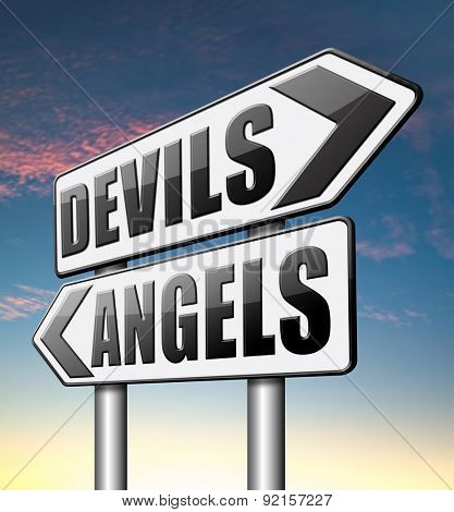 devils and angels good or bad heaven and hell