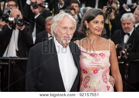 Pierre Richard and his wife attend the'Mad Max : Fury Road' Premiere during the 68th annual Cannes Film Festival on May 14, 2015 in Cannes, France.