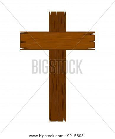 cross design over white background vector illustration