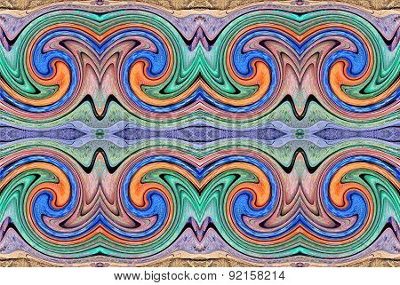 Design for Wall decoration with colorful fabric
