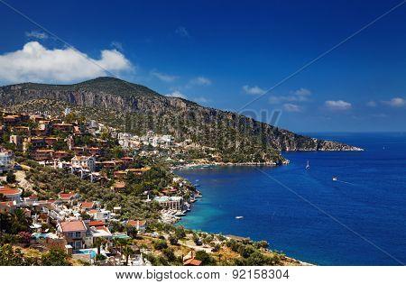 Town Kalkan, Mediterranean Coast, Turkey