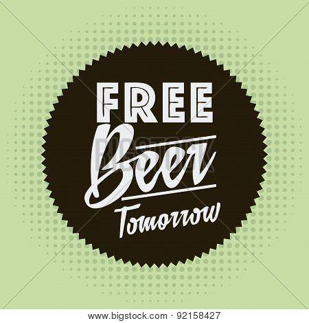 beer design over green  background vector illustration