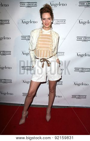 LOS ANGELES - MAY 31:  Breeda Wool at the Angeleno Magazine  June 2015 Issue Party with Cover Man Adrian Grenier at the The Argyle on May 31, 2015 in Los Angeles, CA