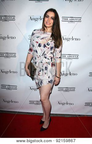 LOS ANGELES - MAY 31:  Sophie Simmons at the Angeleno Magazine  June 2015 Issue Party with Cover Man Adrian Grenier at the The Argyle on May 31, 2015 in Los Angeles, CA