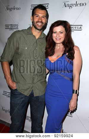 LOS ANGELES - MAY 31:  Brendan Villegas, Rachel Reilly at the Angeleno Magazine  June 2015 Issue Party with Cover Man Adrian Grenier at the The Argyle on May 31, 2015 in Los Angeles, CA