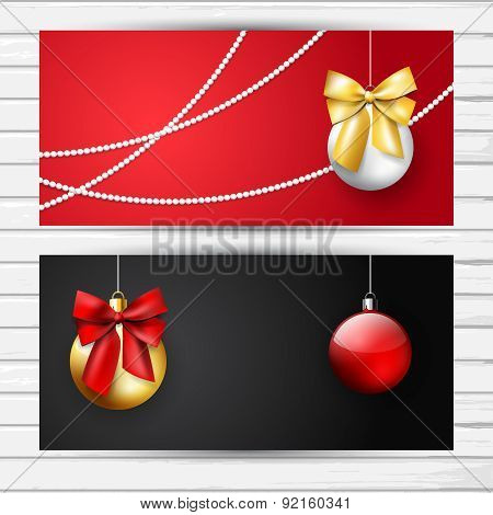 Black And Red Christmas Flyer Set