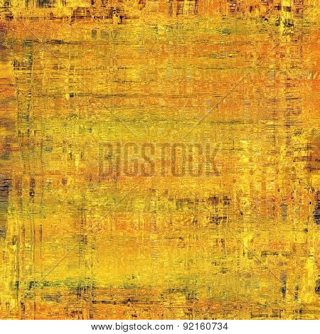 Old abstract grunge background for creative designed textures. With different color patterns: yellow (beige); brown; green