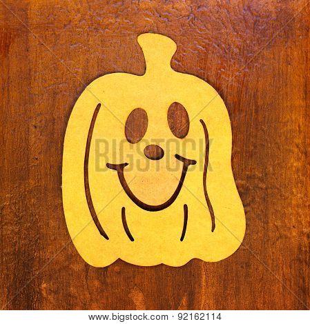 Halloween Pumpkin Lantern Decoration On Door