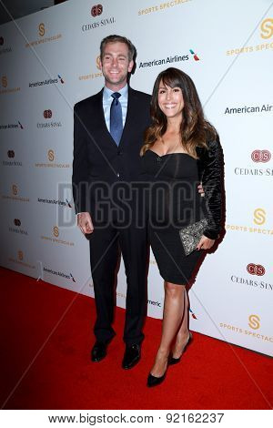 LOS ANGELES - MAY 31:  Chris Dougherty, Leeann Tweeden at the 2015 Sports Spectacular Gala at the Century Plaza Hotel on May 31, 2015 in Century City, CA