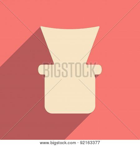 Flat with shadow icon and mobile application shisha bowl
