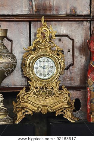 Antique Gold Clock