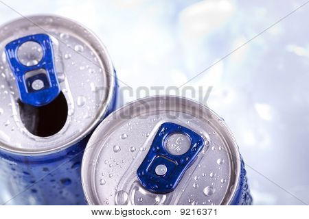 Energy drink closeup
