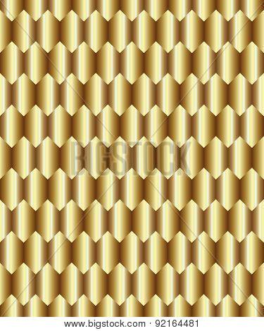 Gold rhombus background